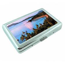 Fiji Islands D8 Silver Metal Cigarette Case RFID Protection Wallet Tropical