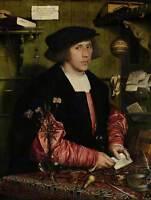 PAINTING PORTRAIT HOLBEIN MERCHANT GEORG GISZE POSTER ART PRINT BB12541B