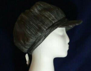 Ladies trendy flat cap hat Peaky Blinders country life Grey, smart fashion NEW