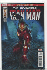 The Invincible Iron Man #593 NM Legacy The Search For Tony Stark  Part 1  MD10