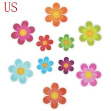 10Pc Non Slip Flower Bathtub Sticker Adhesive Decals Stairs Applique Safe Treads