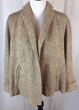 Women's VTG 50s/60s XL FORSTMANN 100% Virgin Wool Cropped Slight Swing Coat
