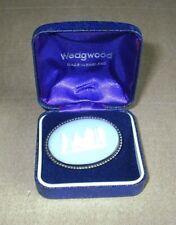 Wedgwood Jasperware Blue Sterling Silver Brooch