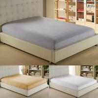 Comfortable Cotton Solid Color Fitted Sheet All Seasons -Deep Pocket Spring