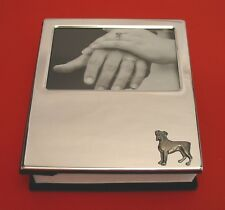 Boxer Dog Motif Plated Photo Album Holds 100 4 x 6 Photos Mum Dad Gift