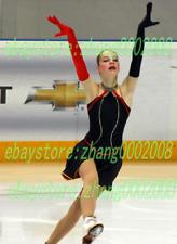 Ice skating dress.Black Competition Figure Skating dress.Matching Glove