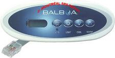 Spa hot tub Balboa WG® VL240 MVP240 Mini oval panel topside keypad part# 55080