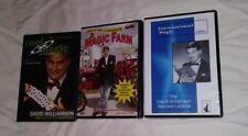 DAVID WILLIAMSON 3 MAGIC DVD LOT - CARD COIN MENTALISM SPRING ANIMAL LECTURE