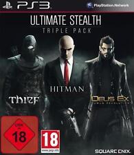 Playstation 3 Ultimate Stealth Triple Pack Thief Hitman Deus Ex Neuwertig