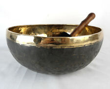 Bol chantant tibétain Noir et Or - 2445 gr  28,5 cm - Singing bowl