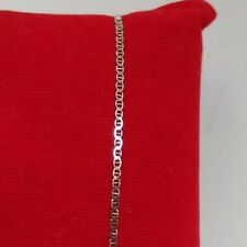 "18k White Gold Italian Anchor/Mariner Chain Ladies Bracelet Ah 750 Italy 7"" EUC"