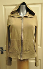 Woman's Calvin Klein Jeans Zip up Stretch Beige / Taupe Hoodie Size S