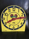 """Large Vintage """"JUDY CLOCK"""". Judy Instructo Wood Teaching Clock..Telling Time"""