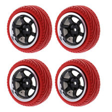 4pc 1/10 On-Road Tyre Front&Rear Tires Wheel Rim for HSP HPI RC Buggy Car