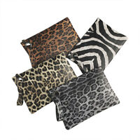 Fashion Women Handbag Leopard PU Polyester Retro Shopping Bag Elegant Totes US
