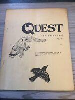 Quest Witchcraft Magazine September 1981