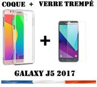 Pour Samsung Galaxy J5 (2017) Coque Etui Housse Silicone slim +Film Verre Trempé