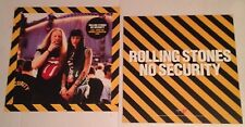 ROLLING STONES No Security 1998 (2) 2-Sided Promo Poster Flat Flats