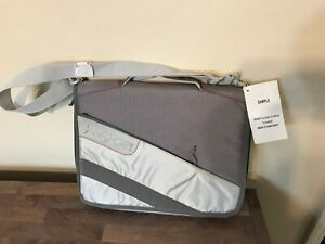 """NEW Jansport Shoulder 15"""" Laptop Messenger Bag Binder School - Gray/Red"""