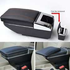 Universal For Car Central Container Armrest Box PU Leather Center Storage Case
