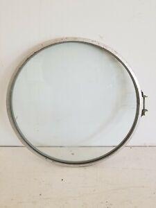 """Round Metal Framed Glass for Table Top, Window, Door or Art 15-1/2"""" diameter."""