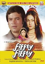 FIFTY FIFTY - RAJESH KHANNA - TINA MUNIM - NEW BOLLYWOOD DVD