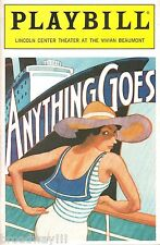 """Patti LuPone """"ANYTHING GOES"""" Cole Porter / Howard McGillin 1988 Rare """"CARRIE"""" Ad"""