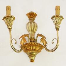 APPLIQUES LAMPADA LED ART.430 LEGNO E FERRO FOGLIA ORO E ARGENTO GOLD NUOVO