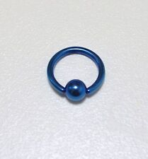Piercing anneaux  bcr,téton,nombril,oreilles, 1.6 mm x 10 mm bleu
