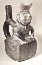 Pre-Columbian Dignitary Vessel Moche V W/Coa