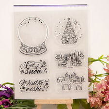 Christmas Crystal ball transparent Silicone Clear Stamp Scrapbook Album FU