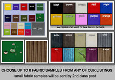 ZIPPY FABRIC SAMPLES ONLY polyester jumbo cord faux leather faux suede and more