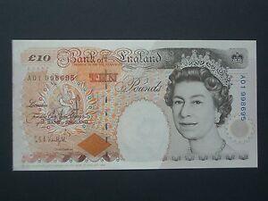 ****British  A01 High No.**** £10  'AUN'  Kentfield Banknote*****