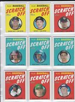 2020 TOPPS HERITAGE LOT OF <12> SCRATCH OFF INSERTS SHORT PRINTS ALL ROOKIES