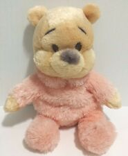 Disneyland Winnie Pooh Bear Plush Toy Bean Bag Rattle- Baby Soft Pastel EUC RARE