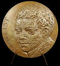Médaille Heinrich von Kleist écrivain allemand Deutsch Schriftsteller 72mm Medal