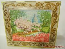 """Vintage Lg. Sunshine Company Biscuits Pictorial Tin Double Wall Lid 12""""x11"""" Box"""