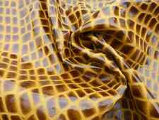 lambskin leather hide skin Tigers' Eye Alligator embossed gloss finish