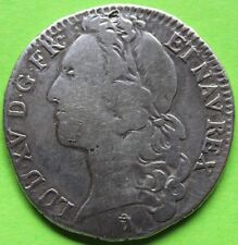 RARE FRANCE LOUIS XV 1/2 ECU AU BANDEAU 1742 CC BESANÇON FAUTÉE