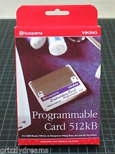 Husqvarna Viking Programmable Embroidery Stitch Card 512 kB Rose Iris #1+ USB
