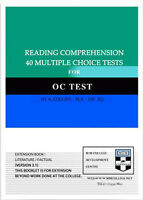 Reading comprehension 40 multiple choice Opportunity Class Placement Test