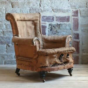 Deconstruct 19th Century Armchair For Upholstery