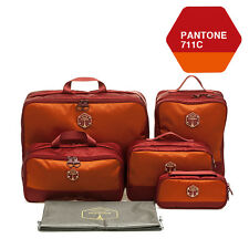 M SQUARE Travel Accessory corporate luxury suitcase travel kit bag set (Wine red