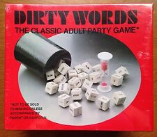 Dirty Words Dice Adult Party Game Naughty Funny Sentences Sexy Risque Vtg 1977