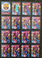 2019/20 Match Attax UEFA Soccer Cards - Barcelona Team Set Messi (16 cards)