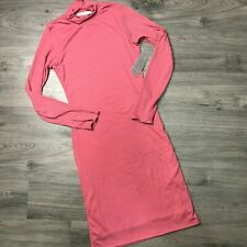VELVET TORCH size Large NWT lettuce edge pink midi dress