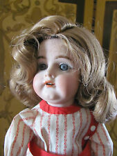 Antique Bisque Doll Wig Honey Blond Hair with Curls Size 8 New Old Stock in Box