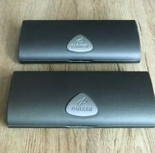 Set of 2 PARKER Pen Boxes Empty Gift BOX & GUARANTEE Hardcover Case/ Grey
