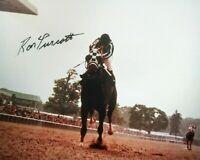 Secretariat photograph signed Ron Turcotte autograph Belmont  TC 1973
