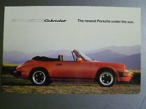 1982 Porsche 911 SC Cabriolet Postcard Post Card RARE Awesome L@@K